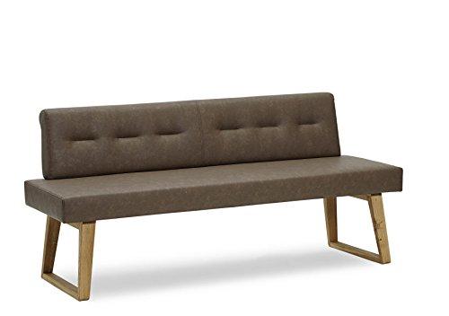 """Naturnah Möbel Sitzbank """"Divine"""" aus Leder und Massivholz, Wildeiche. Keine Massenware!"""