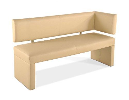 SAM Esszimmer Sitzbank, Sitzbank mit Rückenlehne aus Samolux®-Bezug, angenehmer Sitzkomfort, frei im Raum aufstellbare Bank
