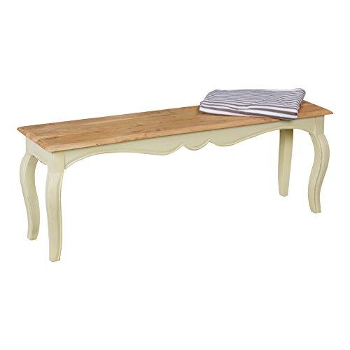 Wohnling Esszimmerbank, Holz, weiß