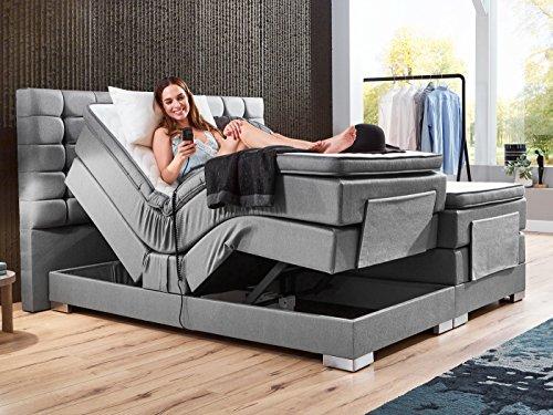 boxspringbett elektrisch verstellbar 180 200x200cm. Black Bedroom Furniture Sets. Home Design Ideas