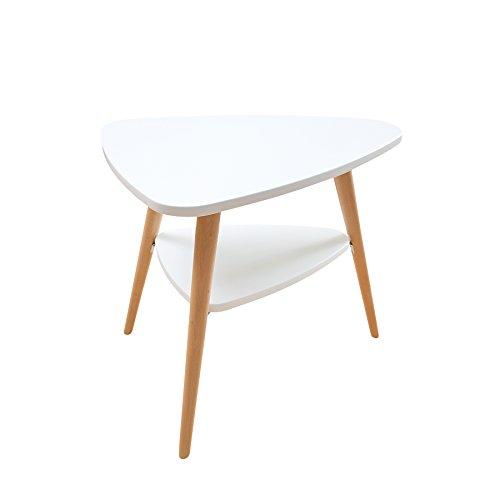retro beistelltisch scandinavia meisterst ck mit ablage wei buche holztisch couchtisch. Black Bedroom Furniture Sets. Home Design Ideas
