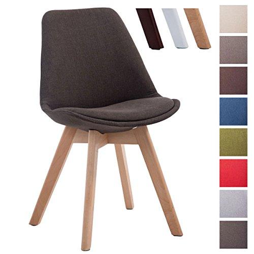clp design retro stuhl borneo v2 besucherstuhl mit holz gestell k chenstuhl mit stoff bezug. Black Bedroom Furniture Sets. Home Design Ideas