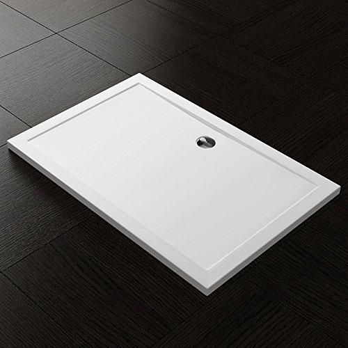 Duschwanne Duschtasse Lucia/Faro in weiß Form: Rechteckig optional mit Ablaufgarnitur und Antirutsch