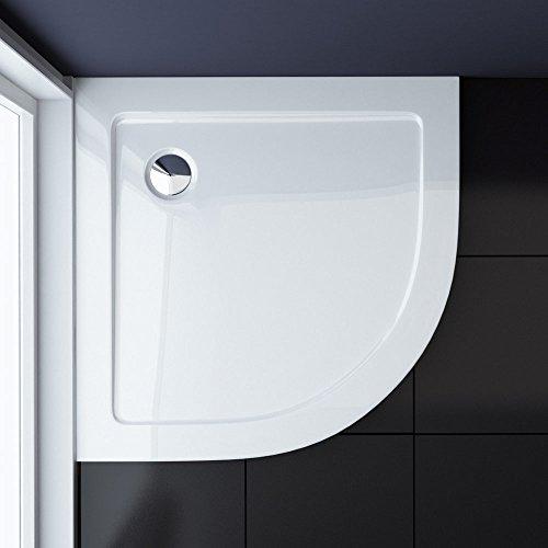 Duschwanne Duschtasse Lucia/Faro in weiß, Form: Viertelkreis in verschiedenen Größen, optional mit Ablaufgarnitur