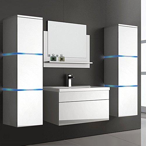 home deluxe badm bel set wangerooge wei inkl waschbecken und komplettem zubeh r. Black Bedroom Furniture Sets. Home Design Ideas