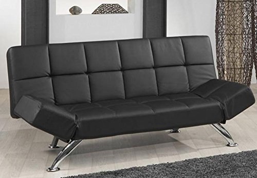 JOB Schlafsofa PLAZA in schwarz Design mit attraktiver Steppung