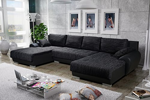 sofa couchgarnitur couch sofagarnitur leon 3 u. Black Bedroom Furniture Sets. Home Design Ideas