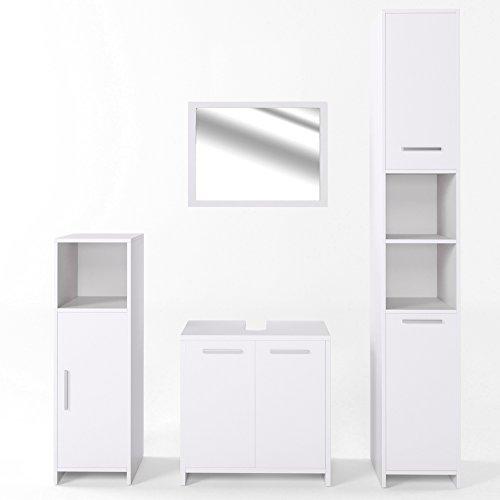 vicco badm bel set kiko wei hochglanz grau beton badspiegel unterschrank bad. Black Bedroom Furniture Sets. Home Design Ideas