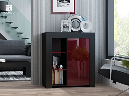 kommode schrank sideboard hochglanz anrichte mit led beleuchtung optional beistellkommode. Black Bedroom Furniture Sets. Home Design Ideas