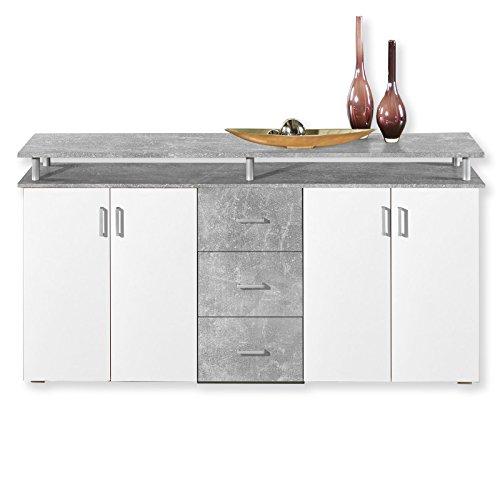 Sideboard Lift - Beton-Weiß - 178 cm