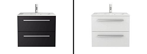 Sieper Waschtischunterschrank Libato - Unterschrank verschiedene Größen - weiß oder anthrazit Hochglanz - Badmöbel Badezimmermöbel Waschtisch Unterschrank Badmöbel