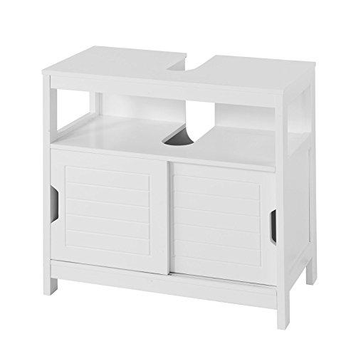 SoBuy® FRG128-W Waschbeckenunterschrank Badmöbel Badschrank Waschtisch Unterschrank weiß