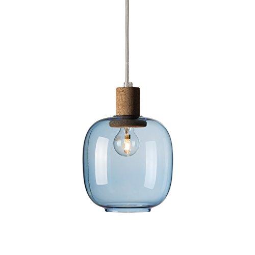 Enrico Zanolla Picia Glas und Kork Pendelleuchte, blau LTPCS21BC