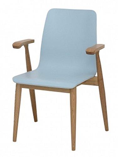 Galdem-Retro-Schreibtisch-Stuhl-Regal-Brombel-Set-Holzfe-Brostuhl-Computertisch-Arbeitstisch-Brotisch-PC-Tisch-Bcherregal-Standregal-Esche-Blau-Stuhl-0