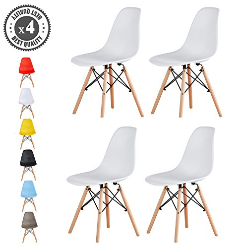 MCC-Retro-Design-Sthle-LIA-im-4er-Set-Eiffelturm-inspirierter-Style-fr-Kche-Bro-Lounge-Konferenzzimmer-etc-6-Farben-KULT-Wei-0