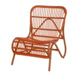 "Moderner OUTDOOR Liege-Stuhl ""Holiday"" im Retro-Design / Garten-Sessel aus stabilem Aluminium in Trendfarbe (Orange)"