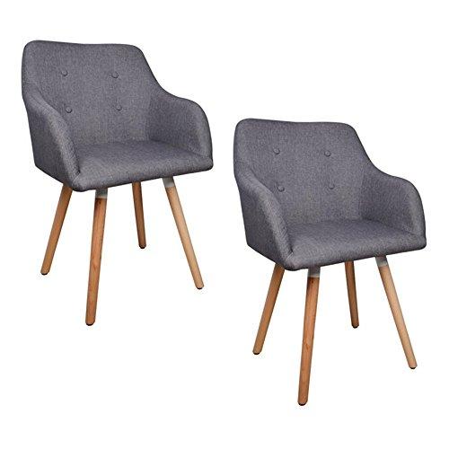 bigtree-Set-2-Stoff-Esstisch-Sthle-Retro-Sessel-Freizeit-Gepolsterter-Sitz-mit-Beine-Eiche-grau-0