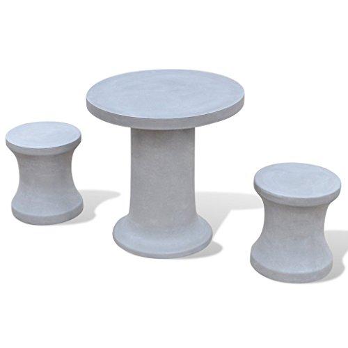 vidaXL Betonmöbel Gartenset Gartengarnitur Sitzhocker Gartenmöbel Tisch Stühle