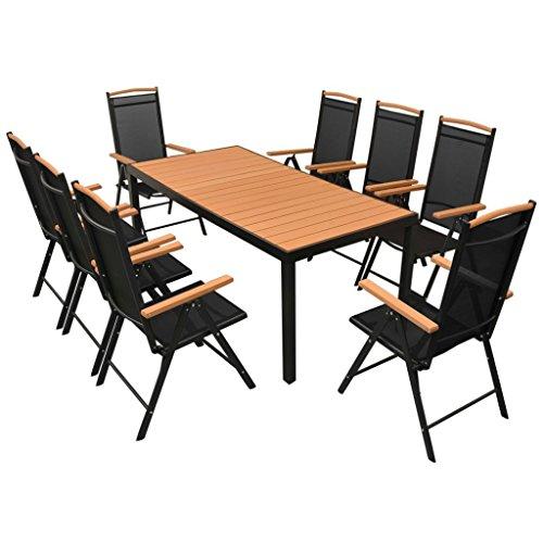 vidaXL-Essgruppe-WPC-9-tlg-Sitzgruppe-Gartenmbel-Lounge-Gartenset-Garnitur-0