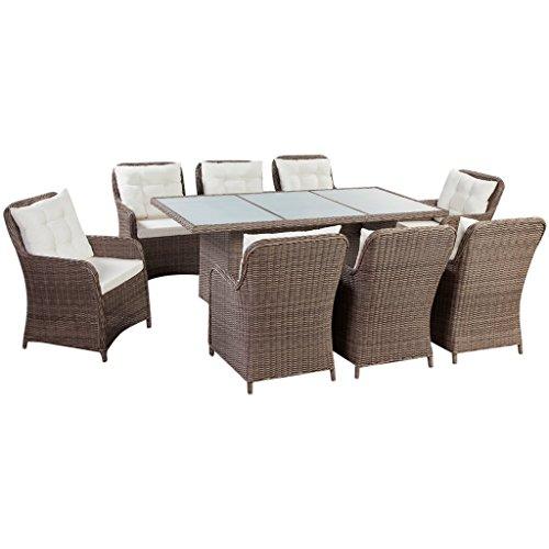 vidaXL PE Rattan Essgruppe 25-tlg. Sitzgruppe Gartenmöbel Set Lounge Gartenset