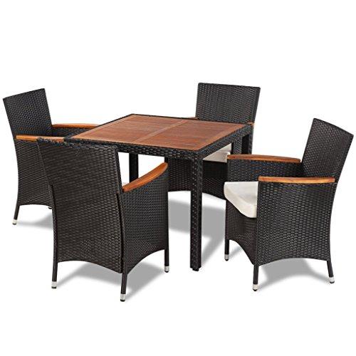 vidaXL-Poly-Rattan-Essgruppe-9-tlg-Sitzgruppe-Gartenmbel-Gartenset-Lounge-0