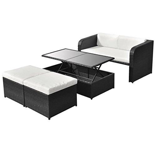 vidaXL-Poly-Rattan-Gartenmbel-9-tlg-Essgruppe-Sitzgruppe-Lounge-Gartenset-0