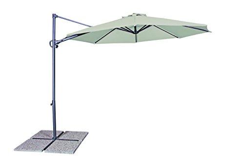 GoodSun Sonnenschirm Pendelschirm RVL, natur, 300 cm rund, Gestell Stahl/Kunststoff, Bespannung Polyester, 13.7 kg