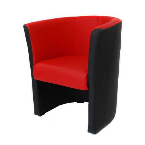 FORTISLINE TOP Sessel Clubsessel Loungesessel Cocktailsessel MIX Schwarz/Rot W042 08