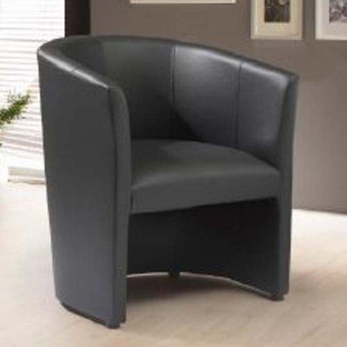 Design Cocktailsessel Sessel Clubsessel Loungesessel Club Möbel Bürosessel Praxismöbel schwarz 1