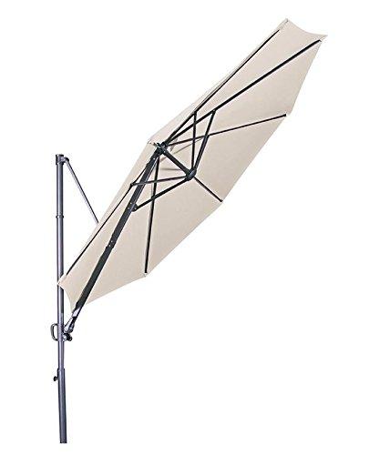 "Doppler Hochwertiger Ampelschirm ""Ravenna 300"" in natur, neigbar, 360 Grad drehbar, UV-Schutz 50 PLUS,"