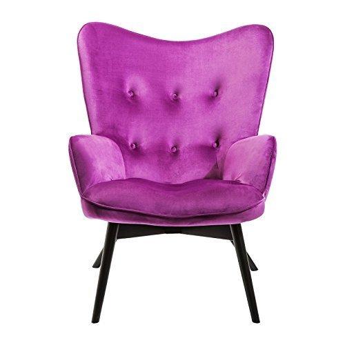 Sessel Vicky velours violett Kare Design