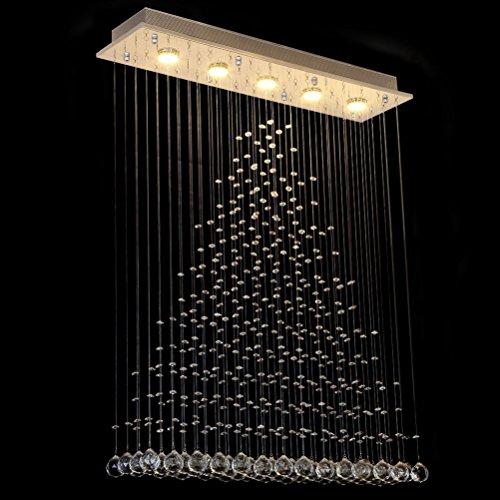 Dst Moderne Regen Tropfen Klar Kristall Deckenleuchte Kronleuchter Hängende Lampen L80cm W20cm H102cm