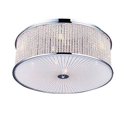 Glighone LED Deckenleuchte Kristall Modern Deckenlampe Kronleuchter Wohnzimmer Anhänger Kristallkronleuchter(G9 Glühbirne erhalten)