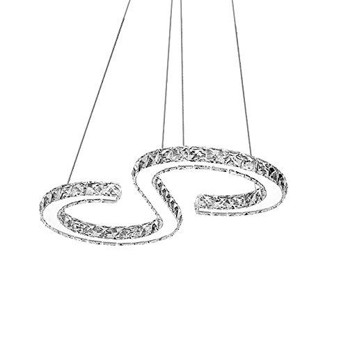 Hengda® Kronleuchter 36W Hängeleuchte Warmweiß(2700-3200K) Starlight-Design LED Deckenlampe Pendel Lüster Kristall für Flur Empfangsbereichen Garderobe Wohnzimmer