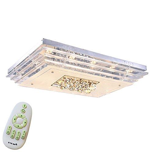 MCTECH® 48W Kristall Deckenleuchte Deckenbeleuchtung Deckenlampe Pendelleuchte LED Lampe Hängelampe (48W, Dimmbar)