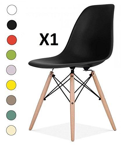 Millhouse Eiffel hochwertiger Stuhl im Retro-Design, fürs Esszimmer / Büro, als Beistellstuhl oder Vorzeigestück. Schwarz
