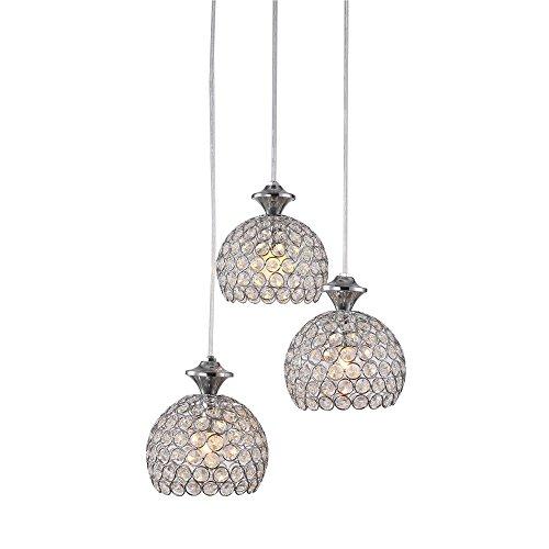 SAILUN 3er Set Kronleuchter Pendelleuchten Pendellampe Weiß E27 Lampenschirm für Küche Wohnzimmer Decken Hängeleuchte (B Type)