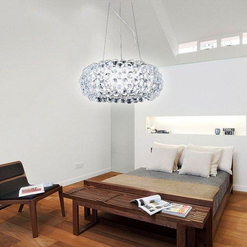 VINGO® 18W Acryl Kronleuchter Modern Wohnzimmer Hängeleuchte Leuchter Pro