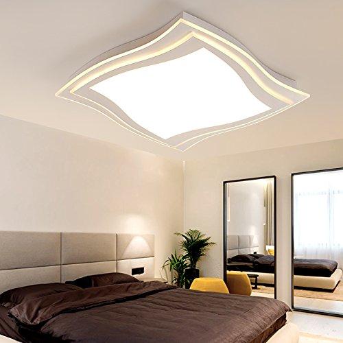 XMZ Moderne Deckenleuchte Kronleuchter Licht für Wohnzimmer, Esszimmer, Corridorsquare 45 * 45 cm 30 W weißes Licht Decke Lampe leuchtet