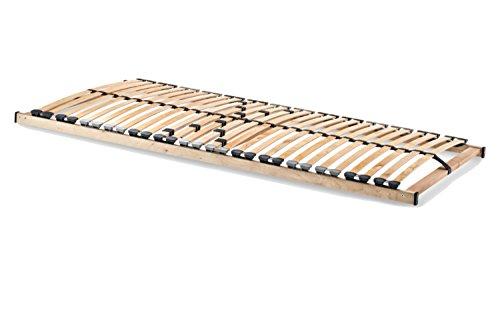 Home Collection24 GmbH® HomeBett 7-Zonen Lattenrost 80x200 cm NV, Geeignet für alle Matratzen, Komfort Lattenrost mit 28 hochelastische Federholzleisten