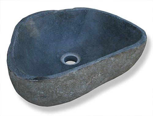 """LioLiving®, Waschbecken """"Stone"""" aus Stein / Findling gefertigt (#400122)"""