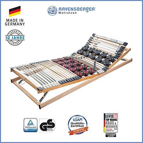Ravensberger Matratzen Duomed® Lattenrost   7-Zonen-Buche-Teller-Lattenrahmen   Teller und Leisten  verstellbar  MADE IN GERMANY - 10 JAHRE GARANTIE   TÜV/GS 100x200 cm