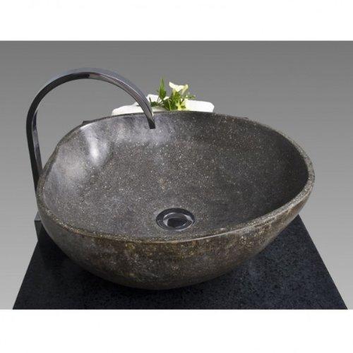 Wohnfreuden Naturstein Waschbecken Waschbecken aus Stein in 40 cm ❘ Steinwaschbecken für ihr Gäste WC Bad | Versandkostenfrei ✓